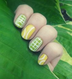"""Found these great nails for tennis.""""I did this tennis design for Wimbledon but MEH! I like the tennis balls, but not the courts. Tennis Party, Le Tennis, Tennis Tips, Sport Tennis, Tennis Quotes, Golf Quotes, Sports Nail Art, Tennis Crafts, Tennis Accessories"""
