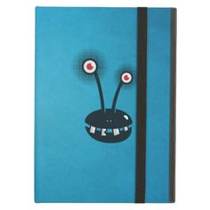 Blue Funny Halftone Cartoon #Alien Folio #iPad Air Cover #ipadair