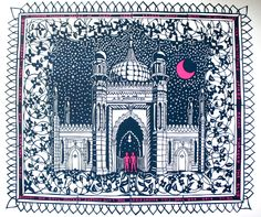Brighton Royal Pavilion print from a paper cut. Jud Barry.