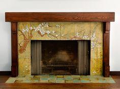 Cherry Tree Fireplace by Pasadena Craftsman Tile