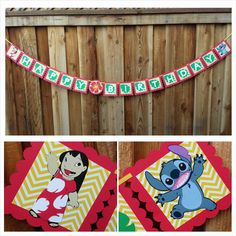 lilo and stitch birthday banner - Google Search