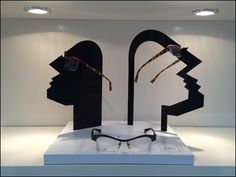 Silhouetted Caricature as Eyewear and Sunglass Display