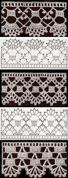 Captivating All About Crochet Ideas. Awe Inspiring All About Crochet Ideas. Crochet Edging Patterns, Crochet Lace Edging, Crochet Borders, Crochet Chart, Crochet Designs, Crochet Flowers, Stitch Patterns, Crochet Kids Scarf, Knit Crochet