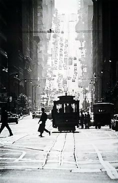 Fred Lyon  Cable Car Line  (California Street)