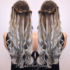 long haired brown and grey ombre - Google Search