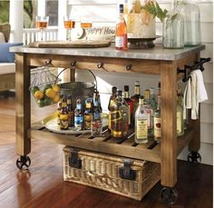 Build a Potting Table, Great for Parties, Too! | http://betweennapsontheporch.net