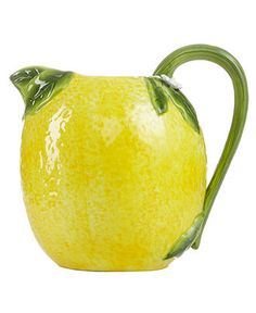Lemon yellow italian pottery and kitchenware on pinterest for Lemon shaped lemonade stand