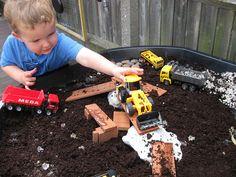 Construction Tray | Pre-school Play