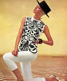 Model wearing sportswear by Mr Dino 1965