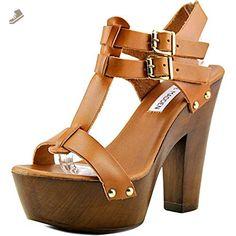 Steve Madden Linear Women US 7 Brown Platform Sandal Platform High Heels, High Heel Boots, Steve Madden Pumps, Sailor Fashion, Flip Flop Shoes, Sexy Heels, Heeled Clogs, Women's Sandals, Vintage Dolls