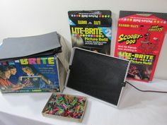 Lite-Brite Toy to Create Colorful Glowing Pictures Pegs and Several Sheets included by LuRuUniques on Etsy