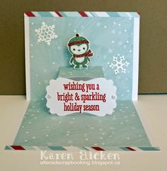 Altered Scrapbooking: Penguin Christmas Card