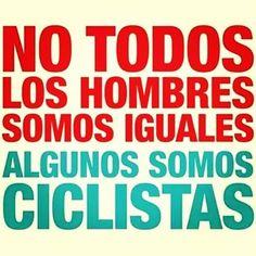 No todos somos iguales... y de entre los ciclistas hay niveles.
