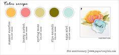 8th Anniversary Color Recipe 3 - Summer Sunrise, Berry Sorbet, Spring Moss, Ripe Avocado, Aqua Mist