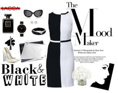 The geometric forms of the are back in fashion - for example on this black & white dress. Classic Elegance, Layouts, White Dress, Black And White, Elegant, Collection, Dresses, Style, Fashion