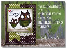 Baby We've Grown digital stamp set (MDS) colored with Blendabilities markers.