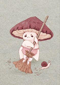 Illustration Inspiration, Illustration Art, Pretty Art, Cute Art, Arte Indie, Arte Sketchbook, Mushroom Art, Mushroom Drawing, Hippie Art