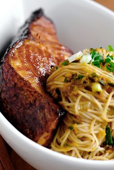 Cod Teriyaki with Ginger Scallion Noodles by pickyin #Cod #Teriyaki #Noodles #Ginger #Scallion