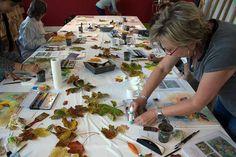 Aquarelle zum Herbstanfang | Schnappschüsse aus dem Aquarellkurs – bunter Herbstblätter (c) FRank Koebsch (10)