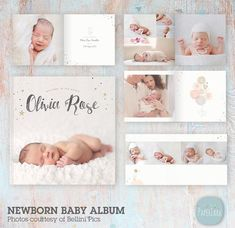 ON SALE Baby Photo Album, Template, Newborn Photography, Newborn Album, Newborn Template - Photoshop template - - Instant Downl Newborn Photos, Baby Photos, Album Digital, Foto Baby, Branding, After Baby, Baby Arrival, Album Design, Pregnant Mom