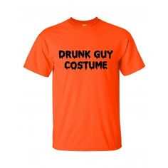 Drunk Guy Costume T-shirt Funny Halloween Party Tee #bobstshirtcompany #halloween