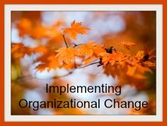 8 Steps to Implementing Successful Organizational Change