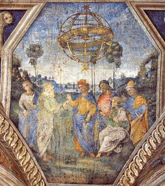 Pinturicchio : Allegory of Astrology (Borgia Apartments, Hall of the Sibyls) 1454-1513 ピントゥリッキオ