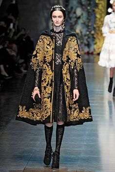 http://www.fashion2dream.com/#!runway-trends/cue  Designer and Catwalk Fashion 2013 Dolce and Gabbana led the way with regal Rococo prints.  Valentino and Carven with bold Byzantine patterns, regal fabrics. At Louis Vuitton it was all about the layers.