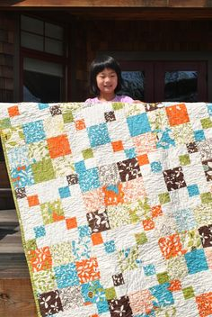 Patchwork QUILT Lap quilt or twin coverlet ...pattern by sweetjane