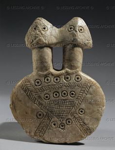 Two-headed female idol, Cappadocia, late 3rd mill. BCE