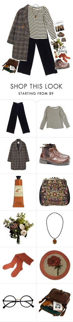 """i am walking throught the street and singing Beatles"" by tickling ❤ liked on Polyvore featuring Hermès, Ralph Lauren, MANGO, Urban Outfitters, Crabtree & Evelyn, Abigail Ahern, Topshop, G.V.G.V. and Retrò"