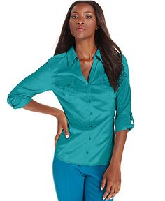 Style Top, Three-Quarter-Sleeve Shirt - Womens Tops - Macy's