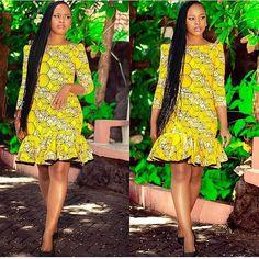 Style Inspiration: Latest Ankara Styles, African print fashion, Ankara fall fash… Remilekun - African Styles for Ladies Short African Dresses, Ankara Short Gown Styles, Short Gowns, Latest African Fashion Dresses, African Print Dresses, African Print Fashion, Africa Fashion, African Prints, Ankara Fashion