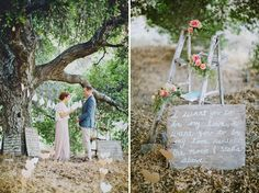 Mom and dad have that red ladder we could decorate and use somehow. Like the focus on the oak tree.