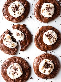 Flourless Hot Chocolate Cookies  Recipe (via Fork Knife Swoon)