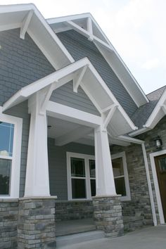 Prestige Homes custom home builder luxury exteriors gallery. New home construction with High End Living. House Siding, House Paint Exterior, Exterior House Colors, Exterior Design, Building Exterior, Craftsman Exterior Colors, Craftsman Style, Custom Home Builders, Custom Homes