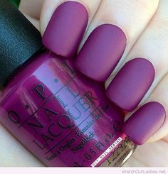 Stunning purple matte polish