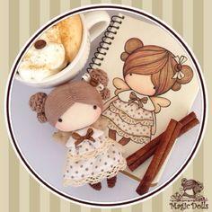Ma Petite Poupee - Cinnamon Angel (for example/для примера) manufacturing in 2016  #magic__dolls #poupee #doll #coffee #кукла #textiledoll #fabricdoll #petite #crochet #sew #draw #sketch #decor #artdoll #amigurumi #crochedoll #тряпичнаякукла #handmade #творчество #зарисовка #ручнаяработа #текстильнаякукла #авторскаякукла #хендмэйд #эскиз #рисунок #декор #корица #куклаизткани #cinnamon