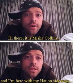 Misha with his hat sideways