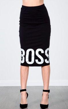 #Make Me Chic             #Skirt                    #Boss #Midi #Skirt #MakeMeChic.com                  Big Boss Midi Skirt | MakeMeChic.com                                          http://www.seapai.com/product.aspx?PID=1667005
