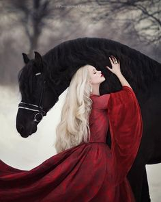 Horse Girl Photography, Fantasy Photography, Winter Photography, Happy Photography, Most Beautiful Horses, Pretty Horses, Horse Photos, Horse Pictures, Winter Horse