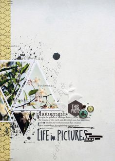 Life in pictures - Maïna // letter sized Scrapbook layout