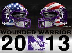 Northwestern Wildcats.   wounded warrior 11