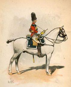 quarelle de L. Vallet : Trompette des Carabiniers (1806).