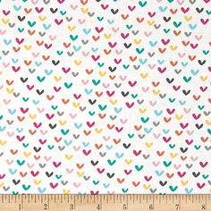 Hearts on White from Timeless Treasure's Happy by StitchStashDiva