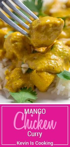 Chicken Curry has an amazingly aromatic, sweet and spicy curry sauce that . - Cooking -Mango Chicken Curry has an amazingly aromatic, sweet and spicy curry sauce that . Mango Chicken Curry, Salsa Curry, Mango Curry, Mango Sauce For Chicken, Beef Curry, Indian Food Recipes, Asian Recipes, Healthy Chicken Recipes, Cooking Recipes