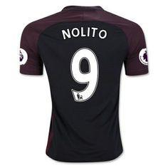 16-17 Manchester City Aways #9 NOLITO Cheap Soccer Shirt [G00569]