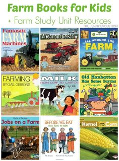 Farm Books for Kids (Farm Study Unit)