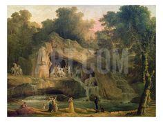 The Bosquet Des Bains D'Apollo Giclee Print by Hubert Robert at Art.com