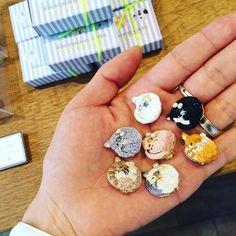 #刺繍 #embroidery #ねこ #cat #イヤークリップ #ブローチ